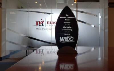 "Machado Consulting Wins ""The Answer Is Downtown Award"""